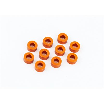 ALU SHIM 3x6x3.0MM (10) - ORANGE