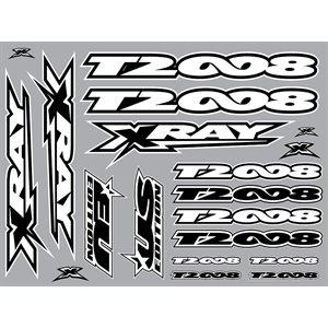 XRAY T2'008 STICKER FOR BODY - WHITE